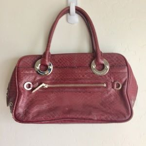 Antonio Melani Deep Red Print Leather Bag